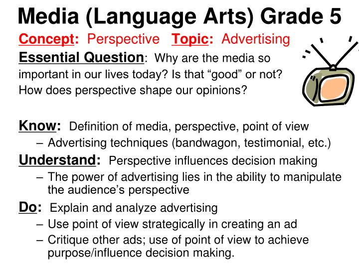 Media (Language Arts) Grade 5