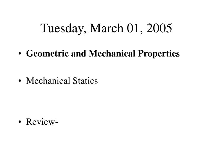 tuesday march 01 2005 n.