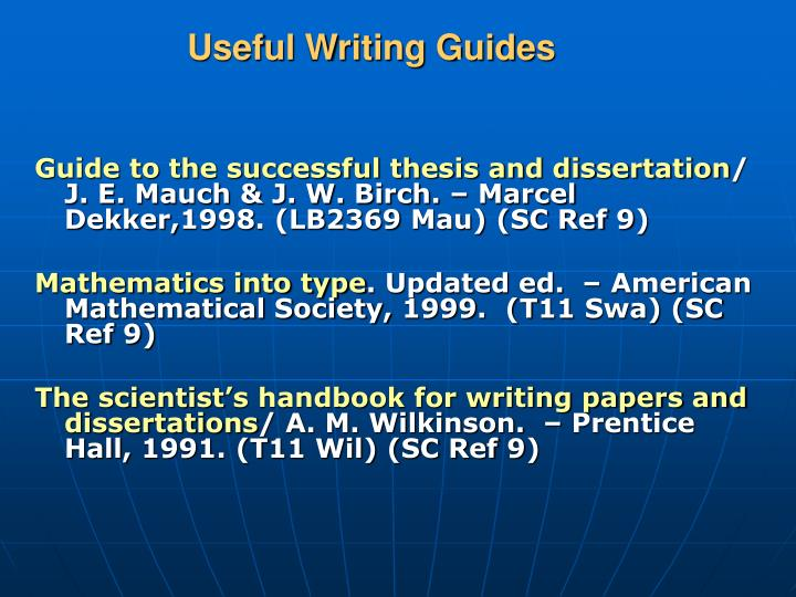 Useful Writing Guides