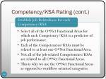 competency ksa rating cont