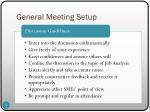 general meeting setup