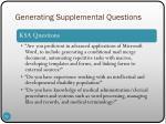 generating supplemental questions4
