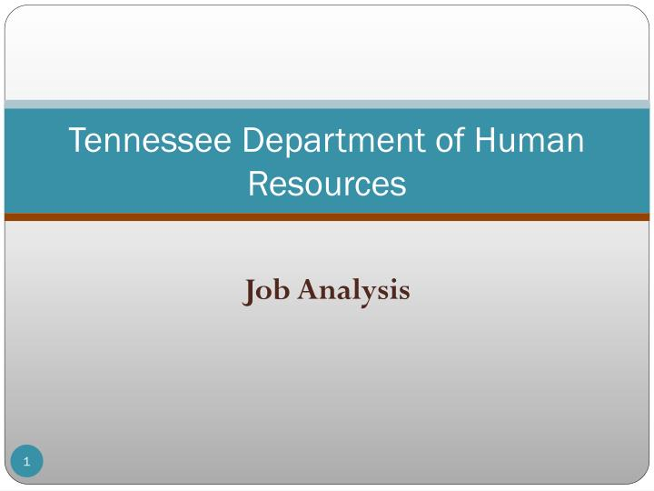tennessee department of human resources n.