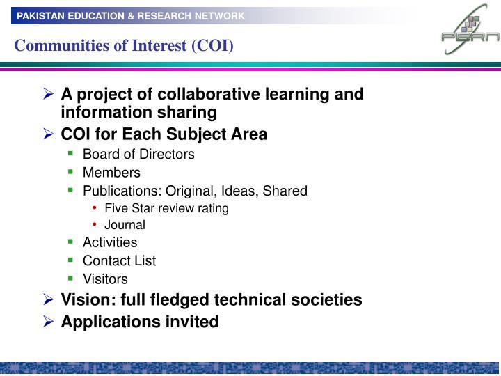 Communities of Interest (COI)