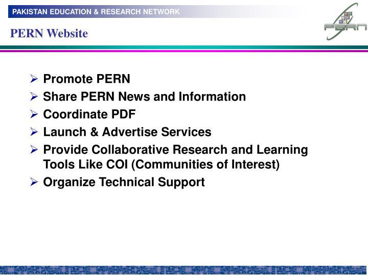 PERN Website