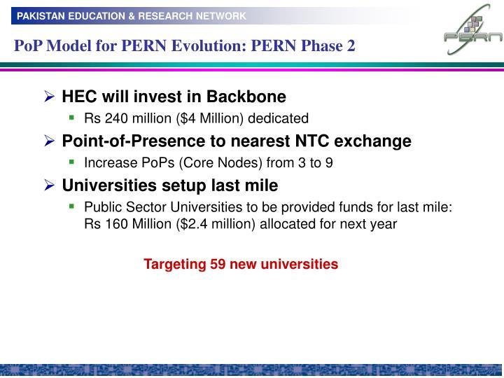 PoP Model for PERN Evolution: PERN Phase 2