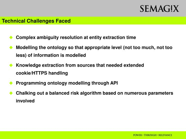 Technical Challenges Faced