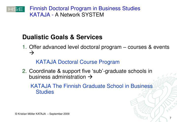 Finnish Doctoral Program in Business Studies