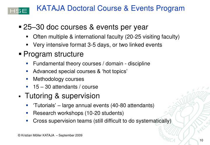 KATAJA Doctoral Course & Events Program