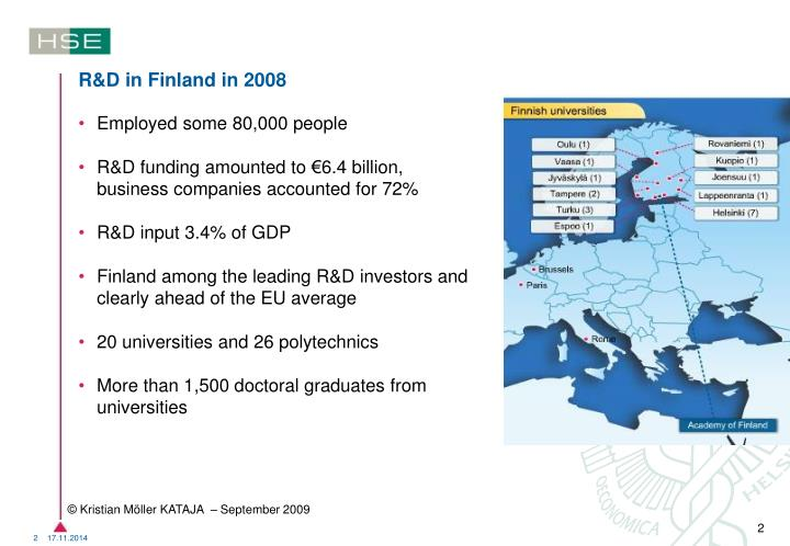 R&D in Finland in 2008