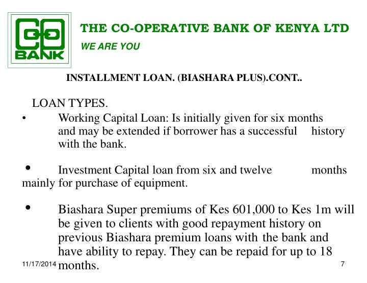 THE CO-OPERATIVE BANK OF KENYA LTD