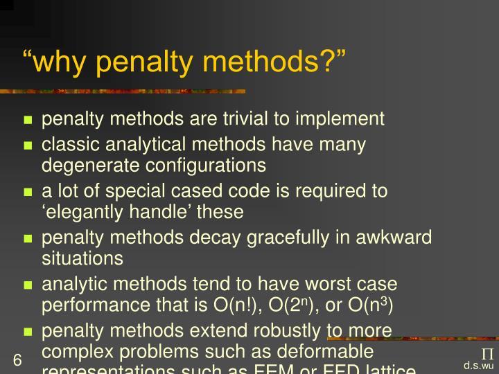 """why penalty methods?"""