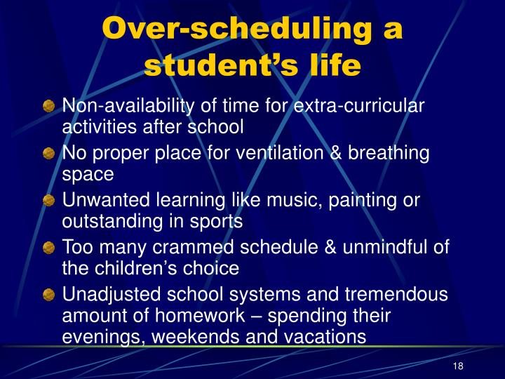Over-scheduling a student's life