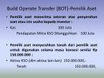 build operate transfer bot pemilik aset