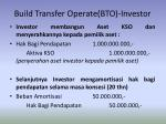 build transfer operate bto investor