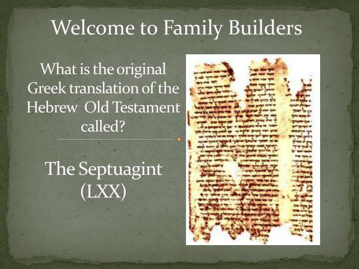 what is the original greek translation of the hebrew old testament called n.