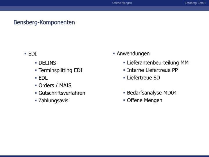 Bensberg-Komponenten