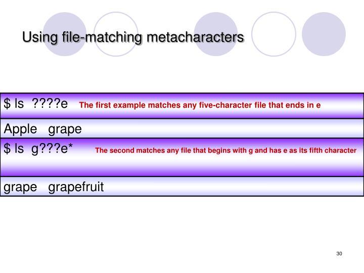 Using file-matching