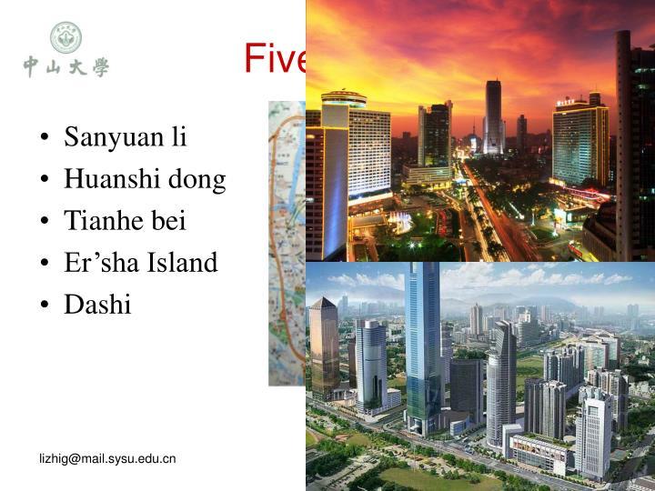 Five sites