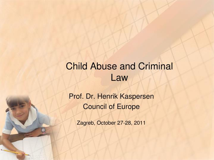 Child abuse and criminal law