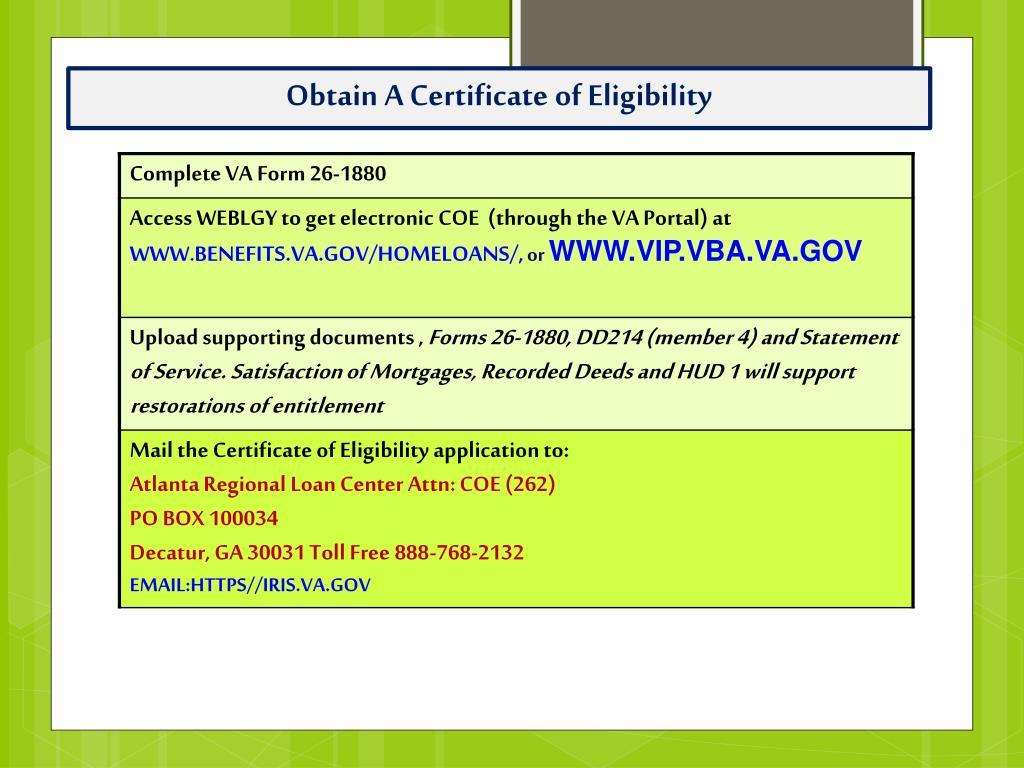 PPT - Department of Veterans Affairs Puerto Rico Lender
