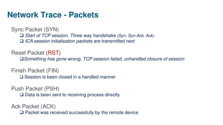 Network Trace - Packets