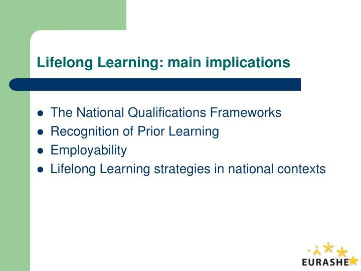 Lifelong learning main implications