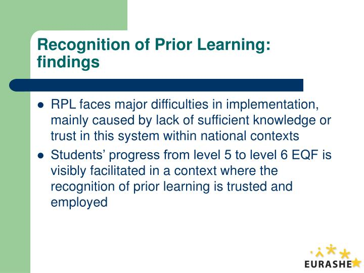 Recognition of Prior Learning:
