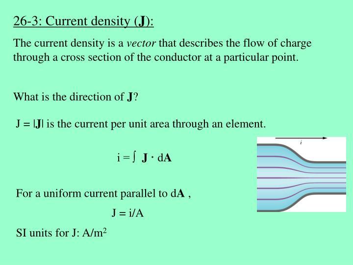 26-3: Current density (