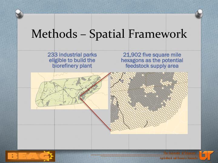 Methods – Spatial Framework