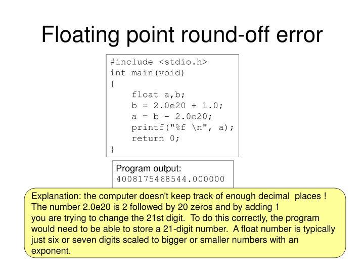 Floating point round-off error