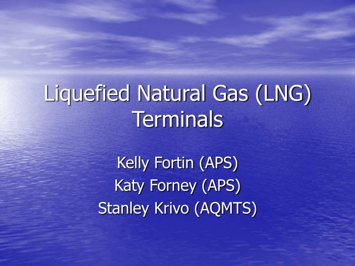 liquefied natural gas lng terminals n.