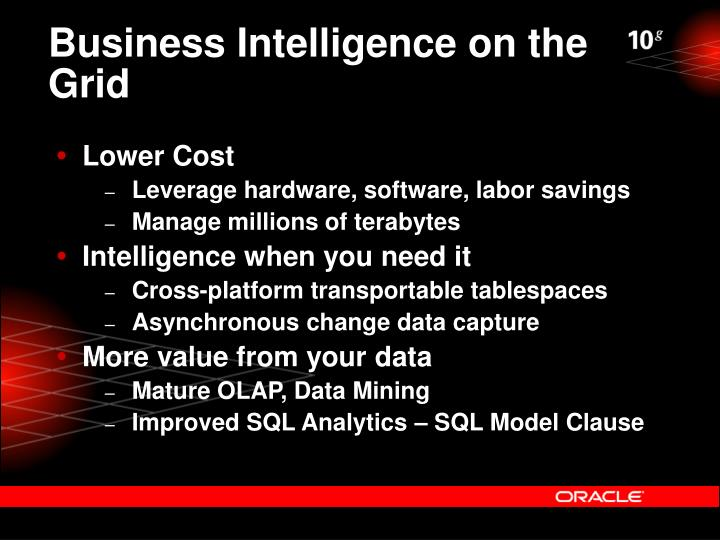 Business Intelligence on the Grid