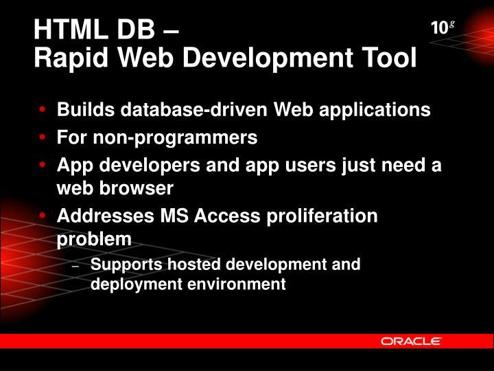 HTML DB –