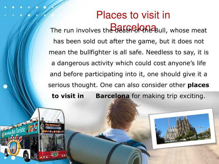 Places to visit in Barcelona