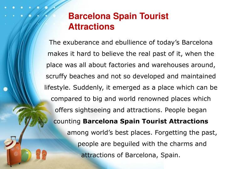 Barcelona Spain Tourist