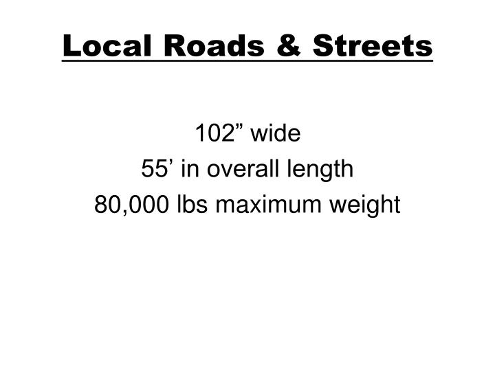 Local Roads & Streets