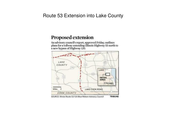 Route 53 Extension into Lake County
