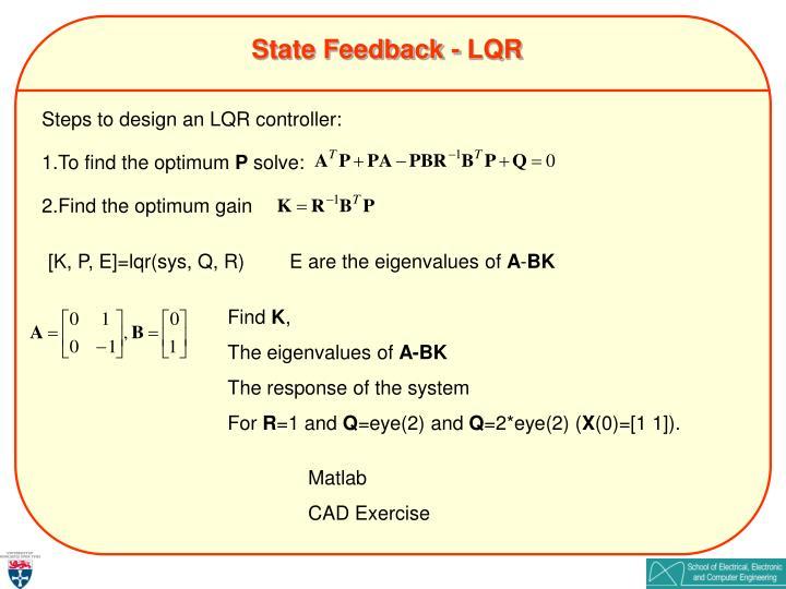 State Feedback - LQR