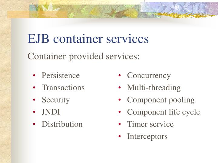 EJB container services