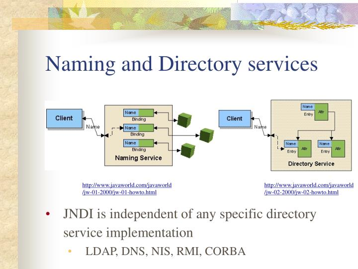 Naming and Directory services