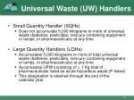 universal waste uw handlers