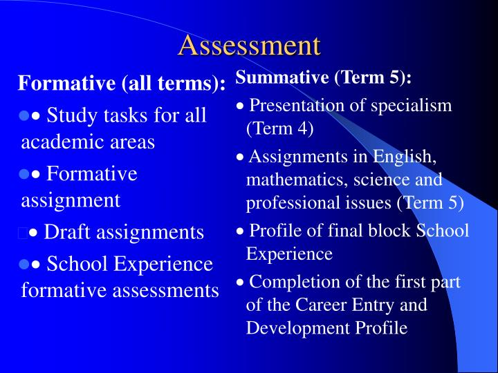 Formative (all terms):