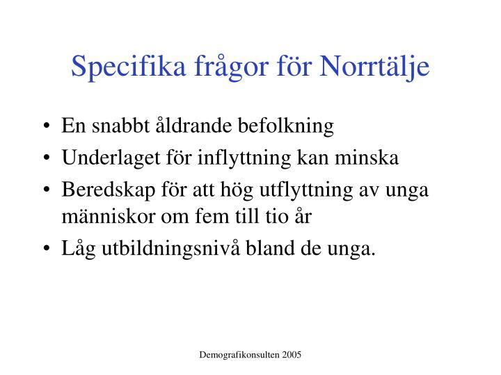 Specifika frågor för Norrtälje