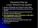 marketing plan for linear referencing system
