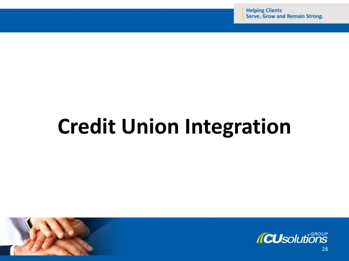 Credit Union Integration