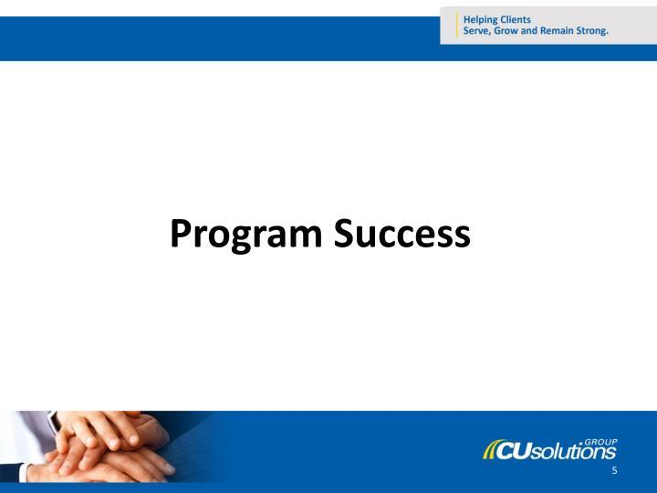 Program Success