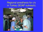 regional anesthesia for c s in turkey soap outreach