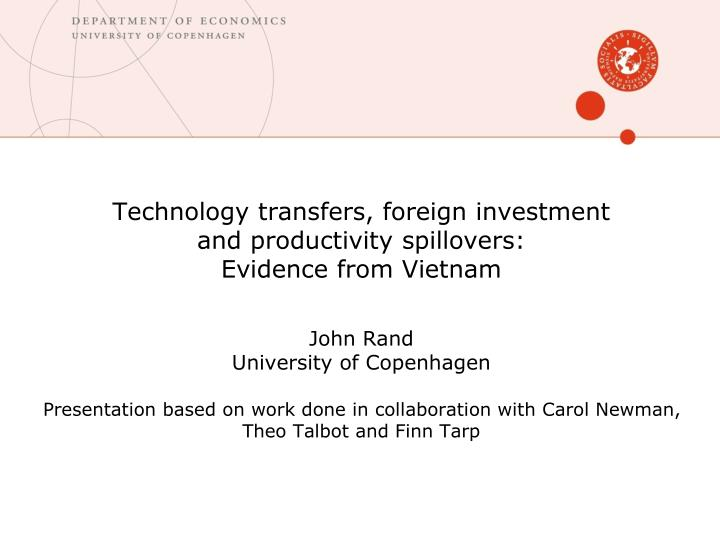 Technology transfers, foreign investment