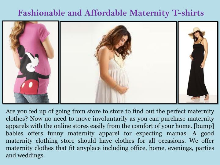 fashionable and affordable maternity t shirts